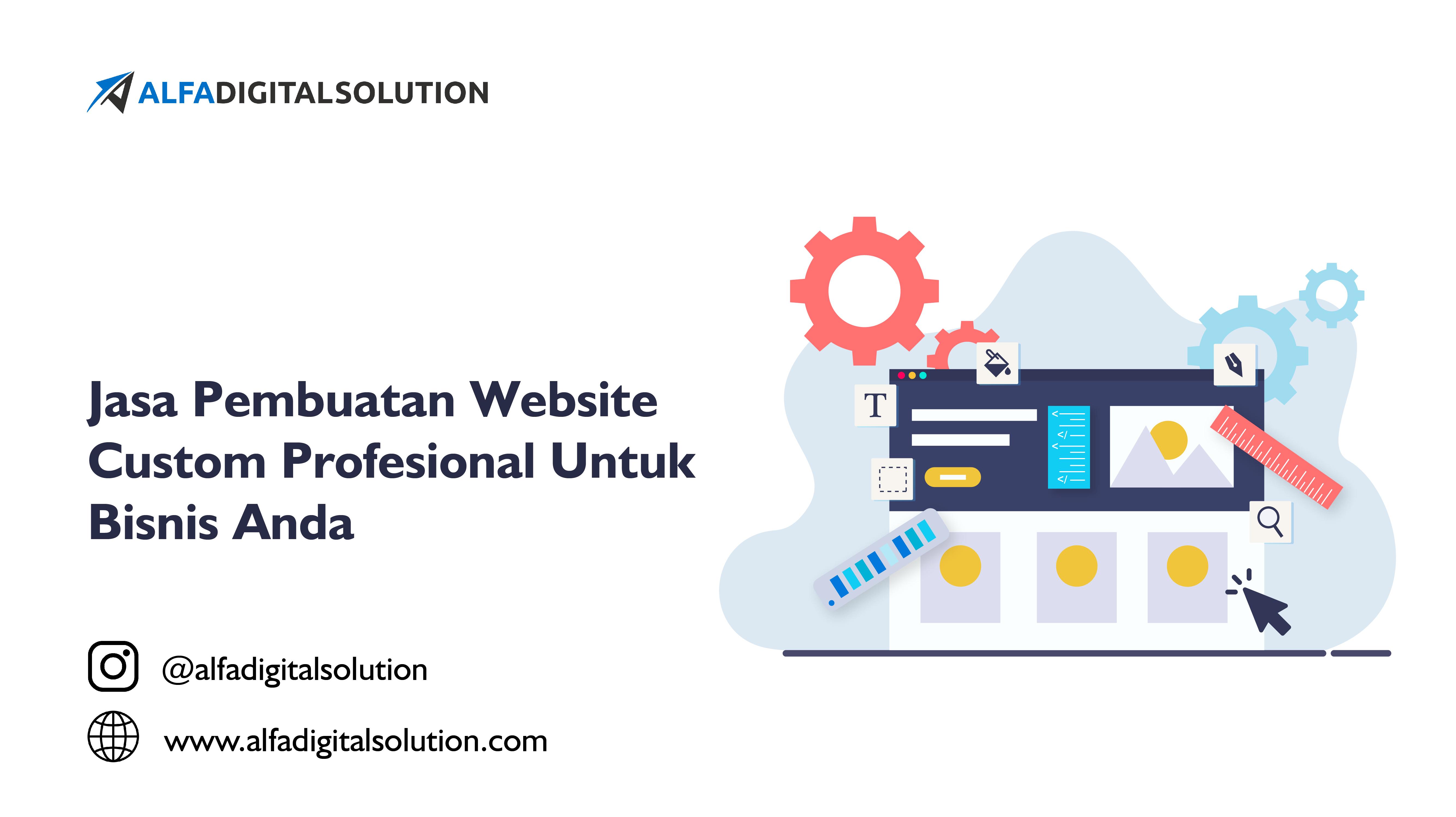 jasa pembuatan website custom profesional untuk bisnis anda